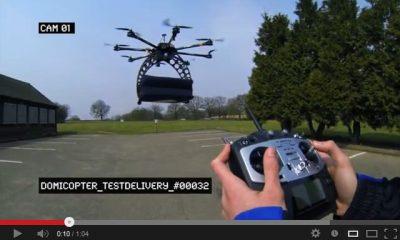Drohne liefert Pizza von Dominos -