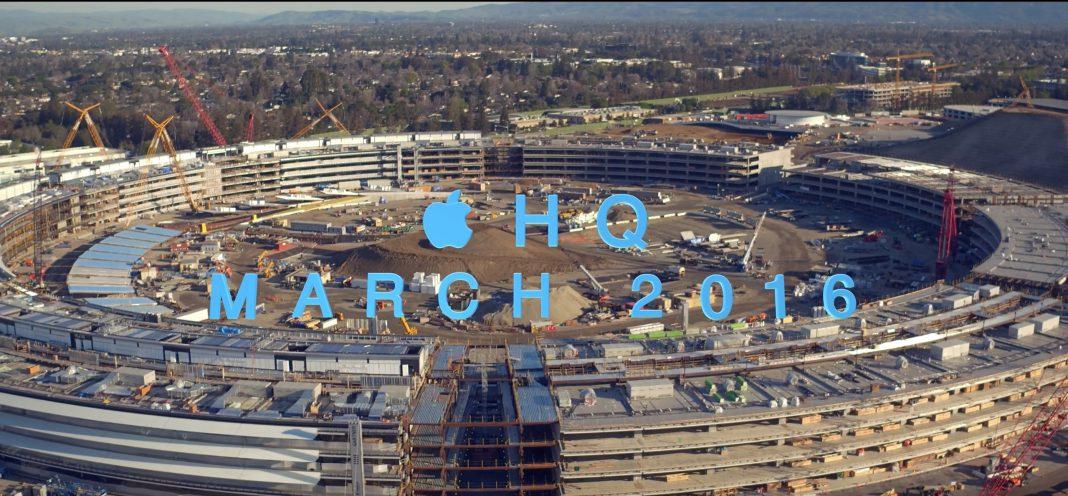 Apple Campus 2 mit Drohne abgeflogen