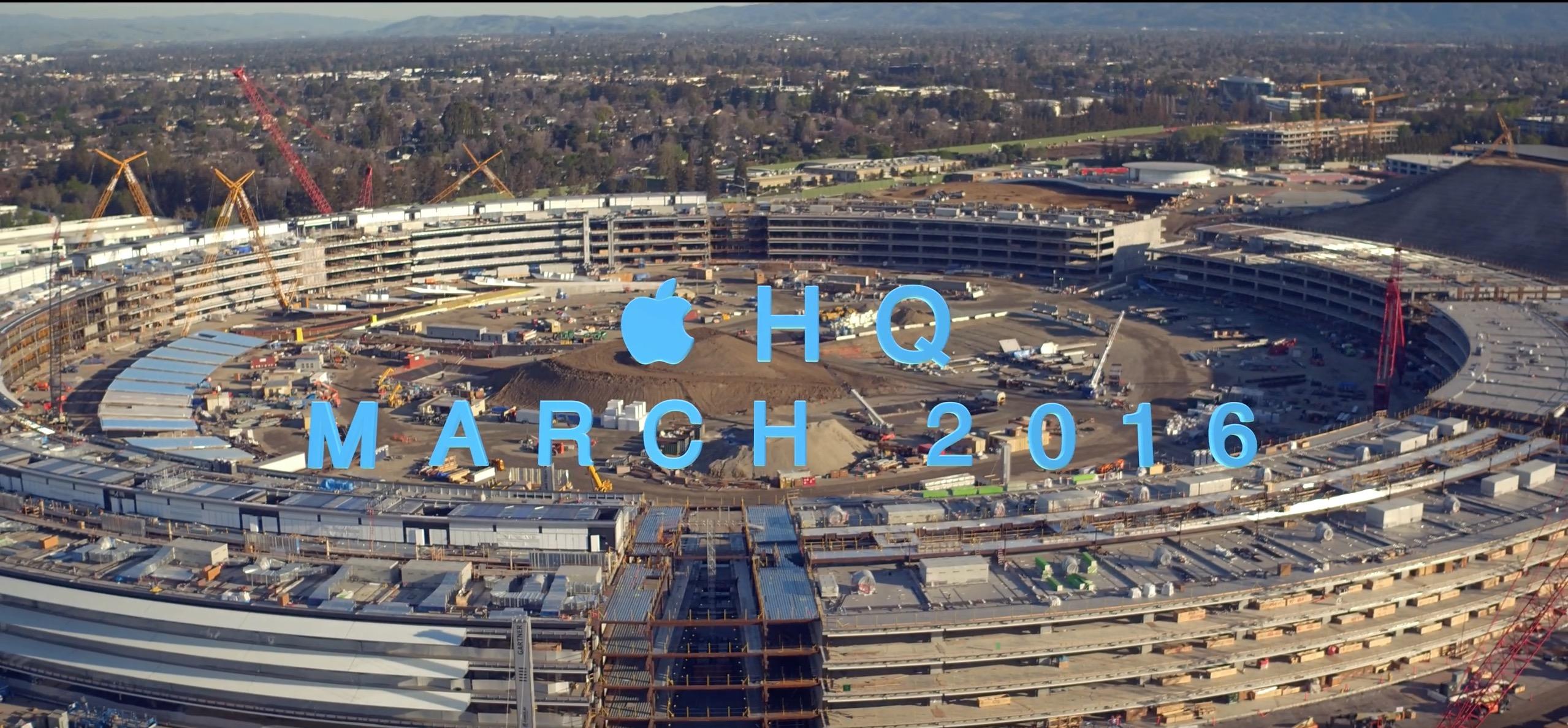 Drohnenflug über Apple Campus 2 - drohnen