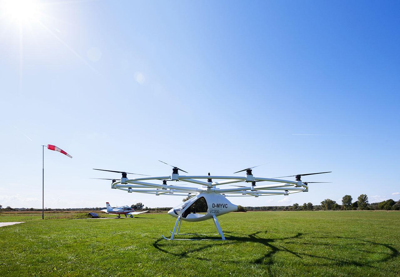 Volocopter - erster bemannter Flug absolviert -