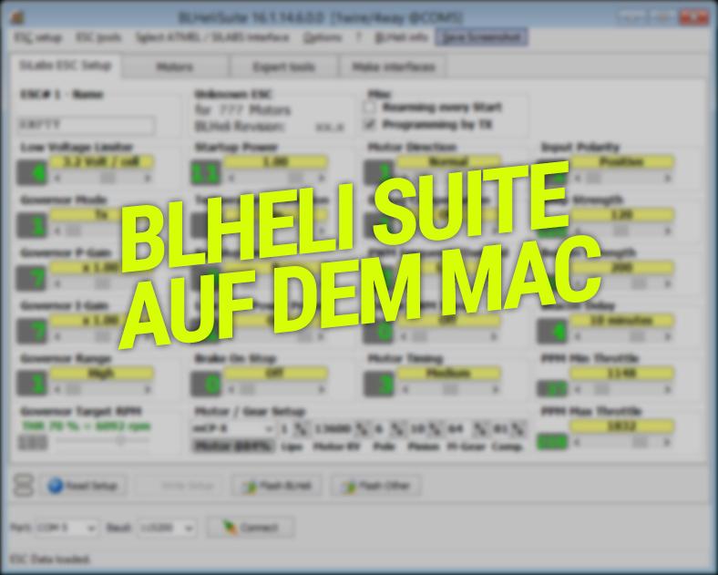 BL Heli Suite auf dem MAC - ohne VM -