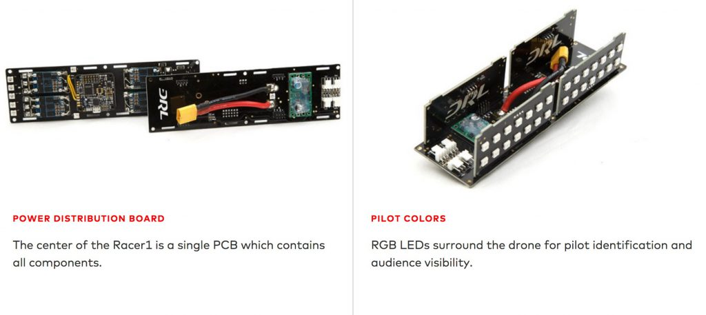 DRL Racer 2 Power Distribution Board und LED Boards