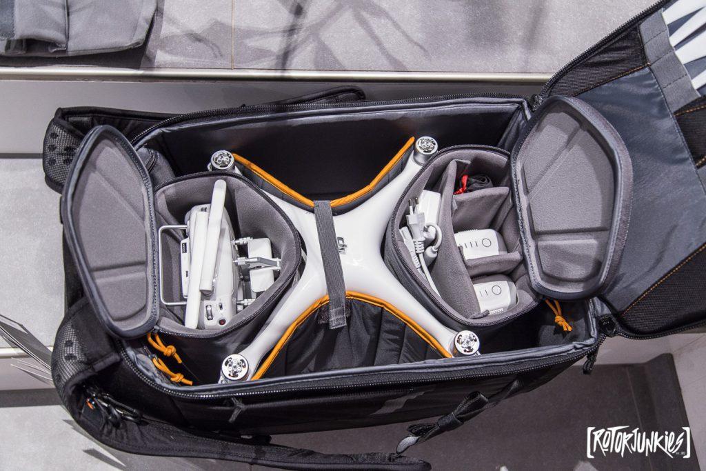 Sicher verstaut: LowePro DroneGuard BP 450 AW -