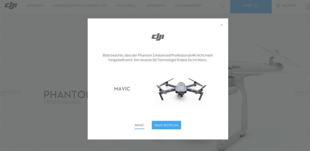 DJI stampft 3 Modelle ein - DJI Phantom