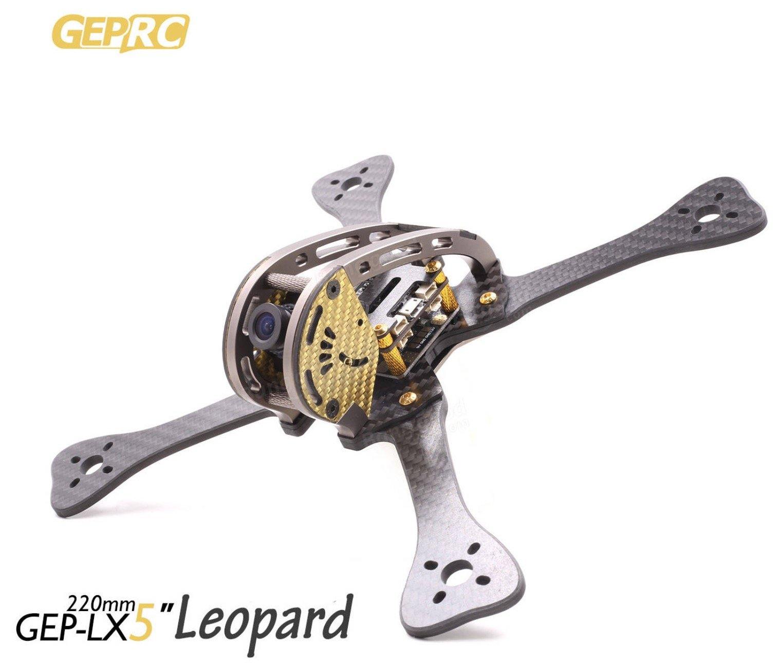 "GEPRC Leopard in gold als 5"" Drohne"