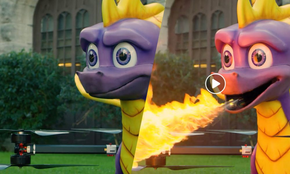 SPYRO the Dragon als Drohne - coole Werbekampagne!! -