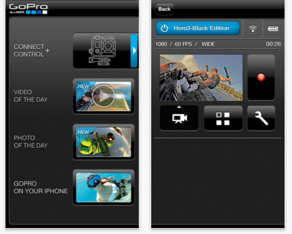 GoPro App Screenshots