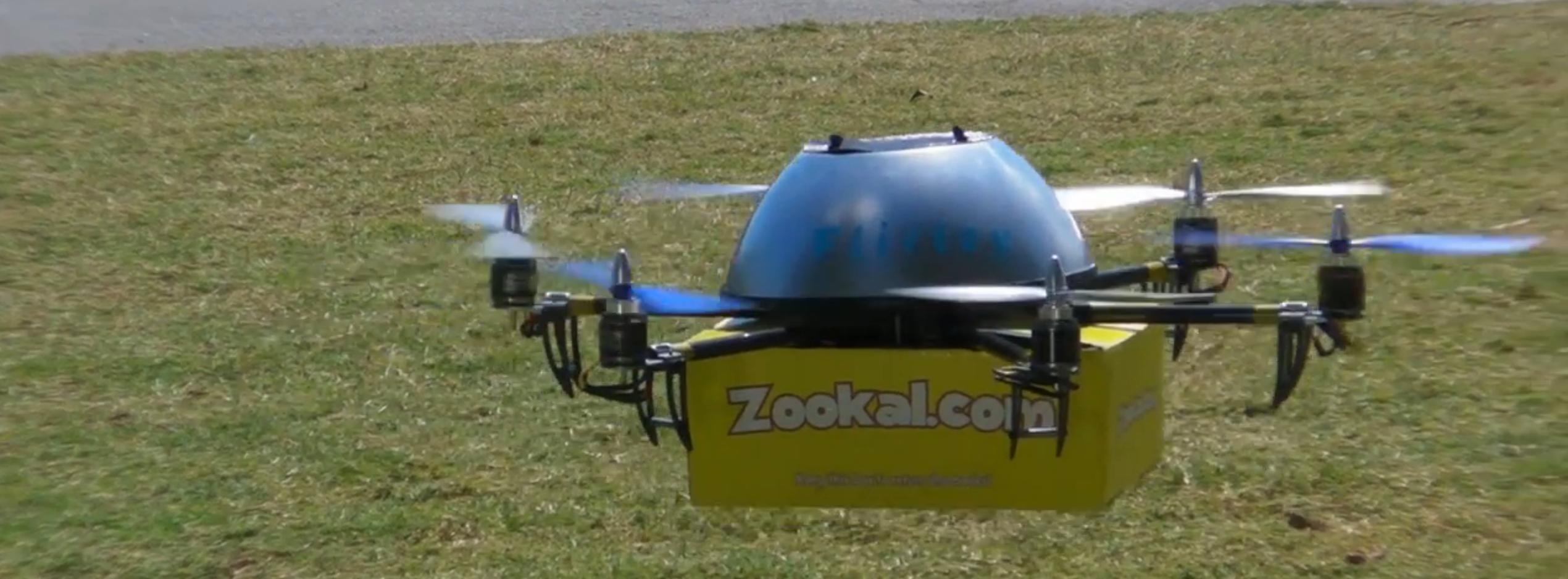 Zookal und Flirtey beginnen mit der Auslieferung per Quadrocopter -