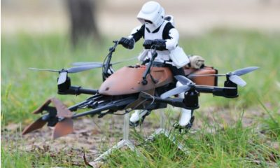 Star Wars Speeder Bike als Quadrocopter -