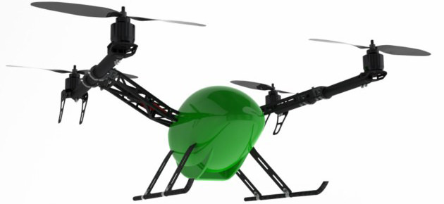 Quadrocopter in origineller Form - Modell von Varioframe Quadcopter