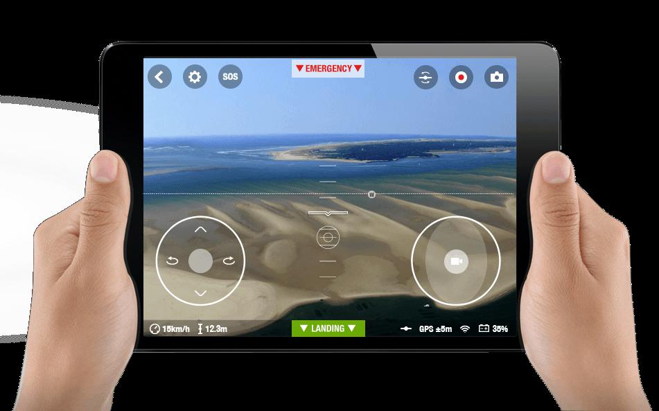 Free Flight 3.0 zur Steuerung der BEBOP Drone von Parrot