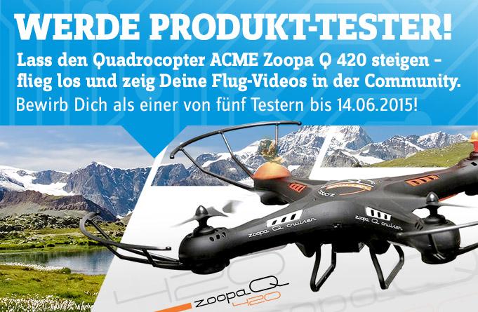 CONRAD sucht Produkttester für Quadrocopter! -