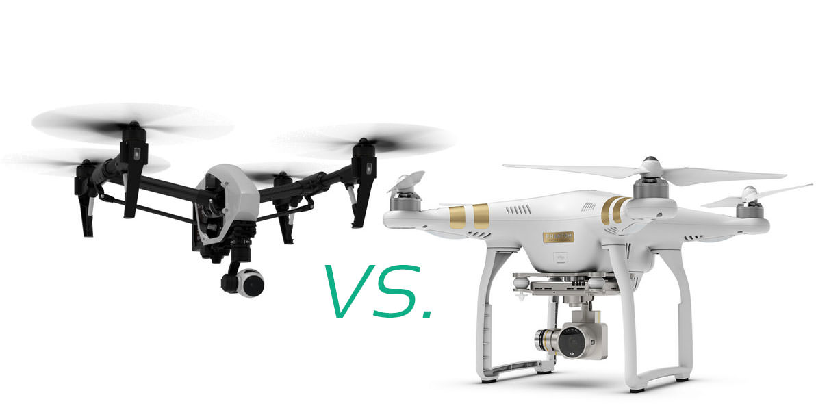DJI Phantom 3 vs. Inspire 1 - DJI Phantom