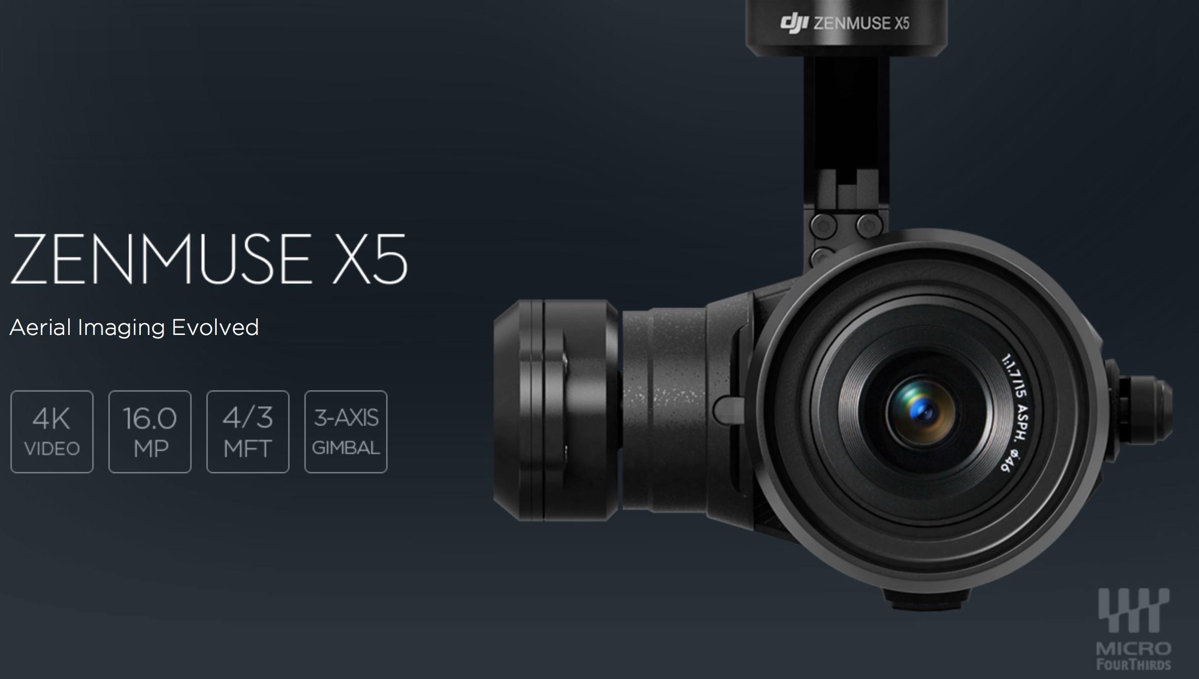 Zenmuse X5 - die MFT Kamera für Inspire 1 -