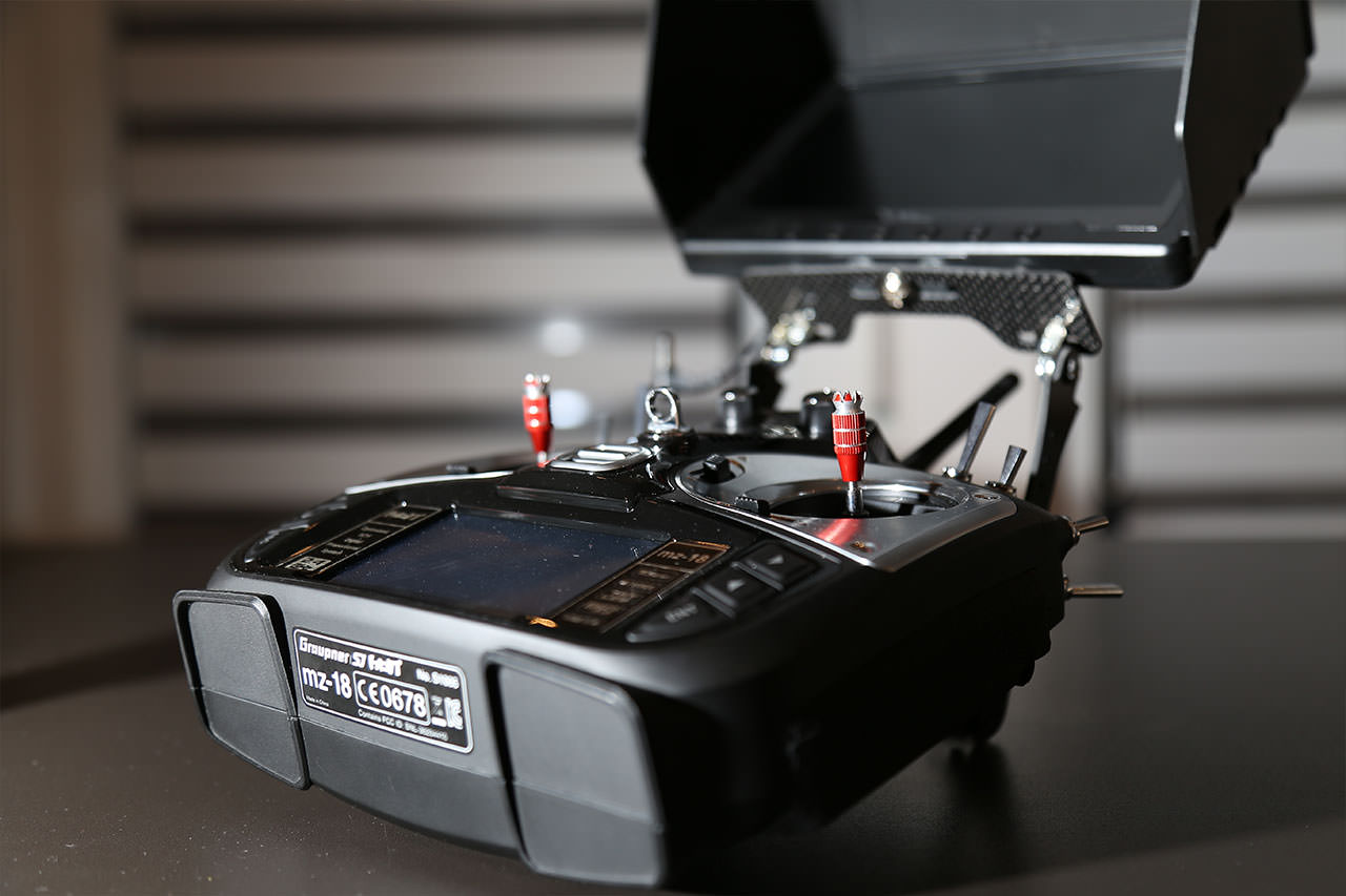 FPV Monitor Halterung - graupner