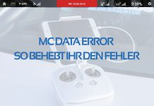 MC Data Error am Inspire1 beheben