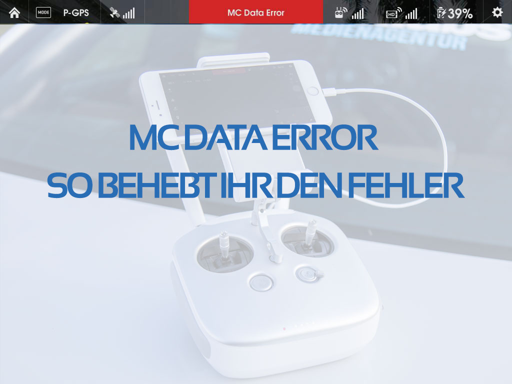 MC Data Error beheben - Inspire 1 - Tutorials