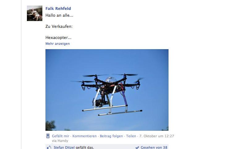 Multicopter Kleinanzeigen jetzt auf Facebook -