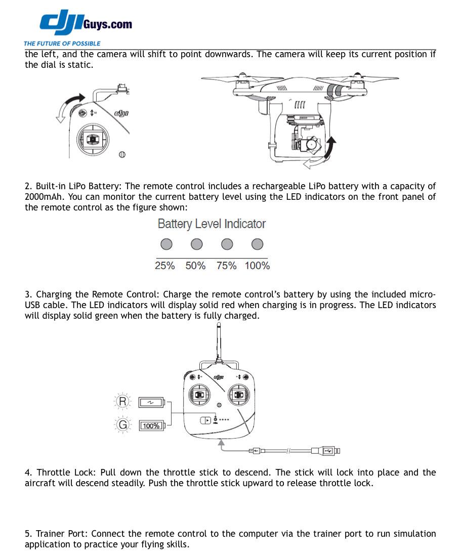 Neues Datenblatt zur Fernsteuerung des DJI Phantom 2