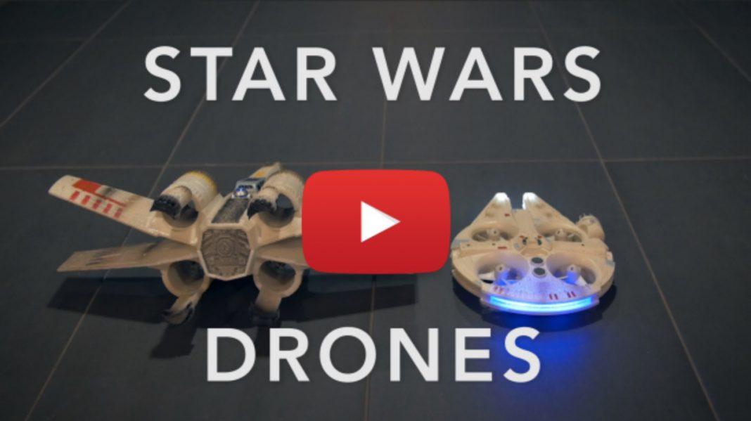 Star Wars Drohnen - Millenium Falcon und X-Wing