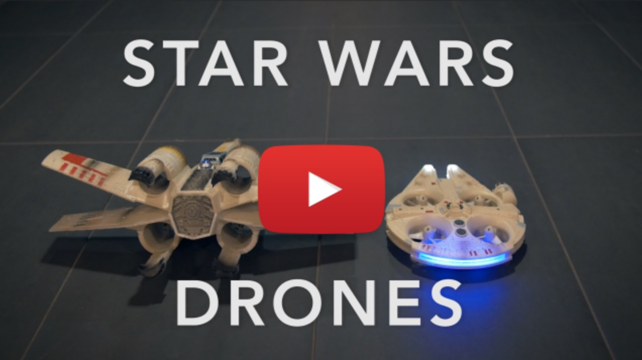 Millennium Falcon vs. X-Wing Star Wars Drones -
