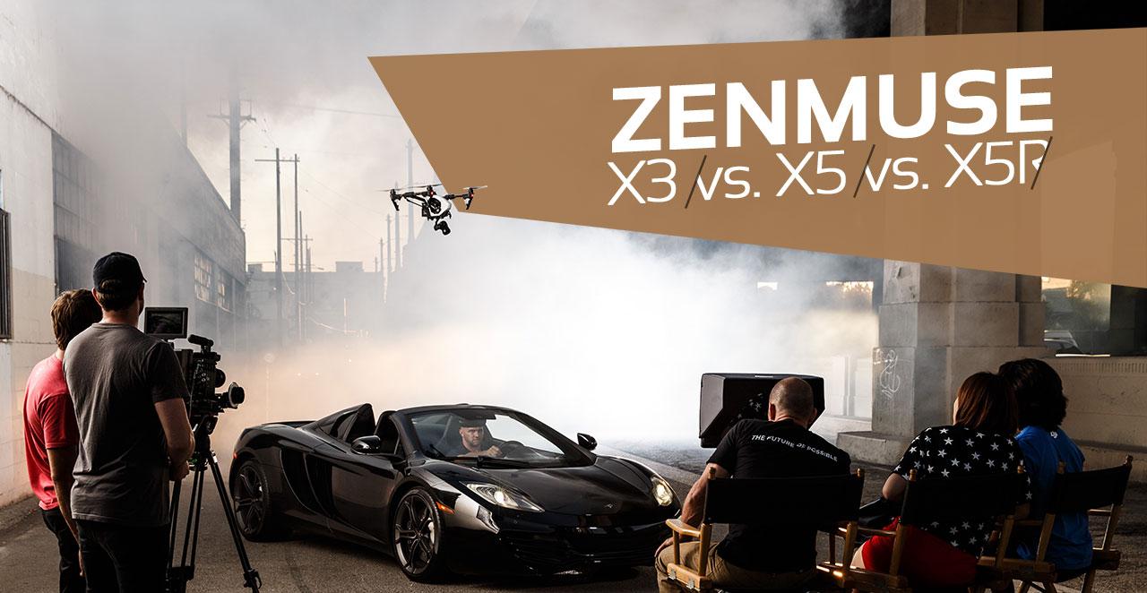Vergleich Zenmuse X3, X5, X5R -